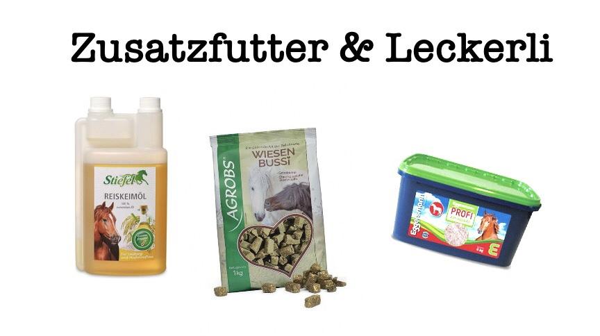 Zusatzfutter & Leckerli