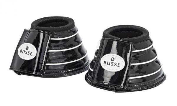 Busse Reitsport LACK-Hufglocken (schwarz/weiß)