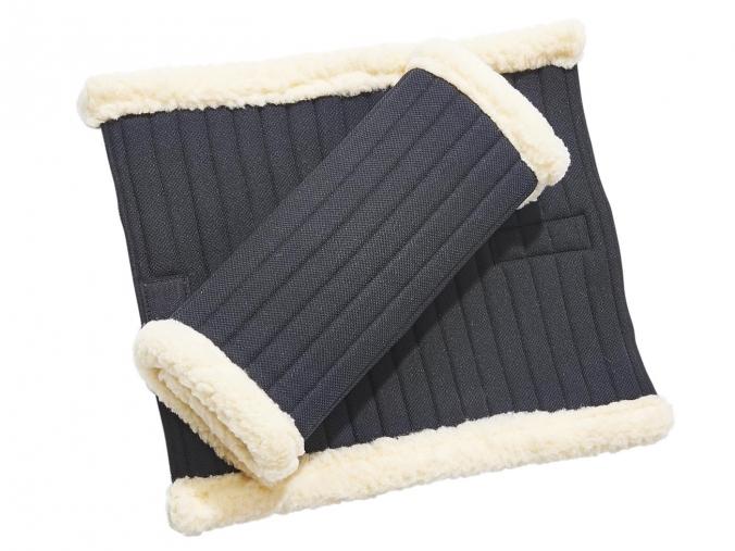 Busse Reitsport Bandagen-Unterlagen KLETT-FUR (schwarz)