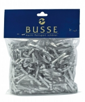 Busse Reitsport - Mähnengummis SILIKON (weiß + schwarz)
