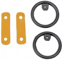 Busse Reitsport Ersatz-Set für Sicherheits-Steigbügel (schwarz)